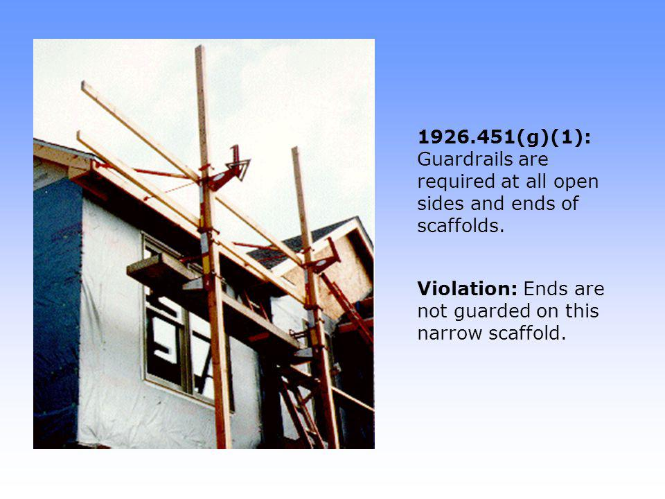 1926.451(g)(4)(iv): When midrails are used, they shall be installed between the top edge of the guardrail system and the platform surface.