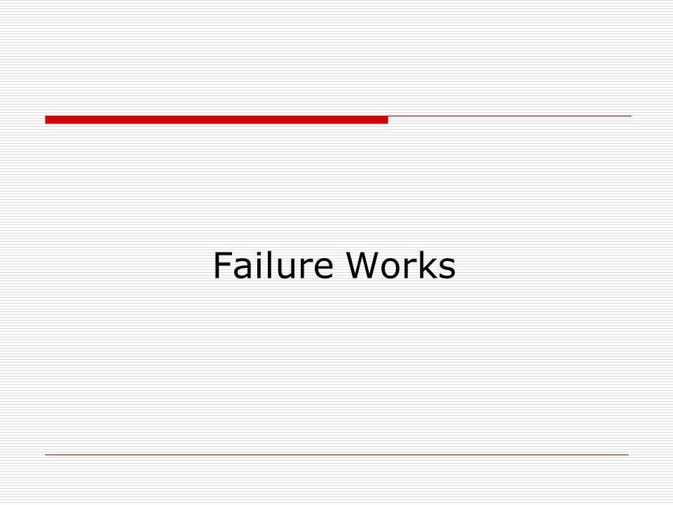 Failure Works