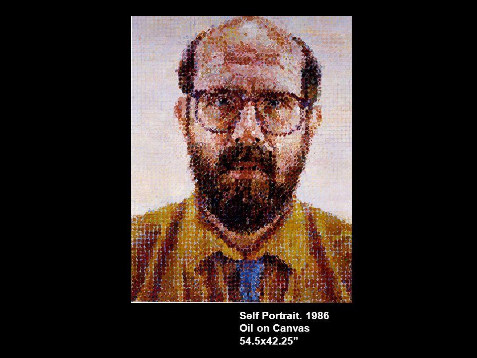 Self Portrait. 1986 Oil on Canvas 54.5x42.25