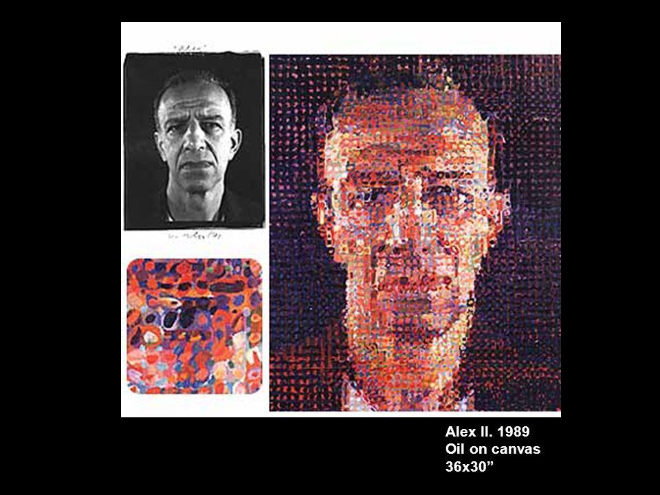 Alex II. 1989 Oil on canvas 36x30