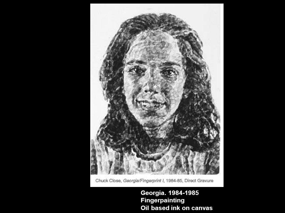 Georgia. 1984-1985 Fingerpainting Oil based ink on canvas