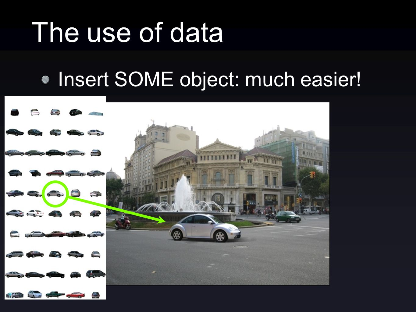 The use of data Insert SOME object: much easier!