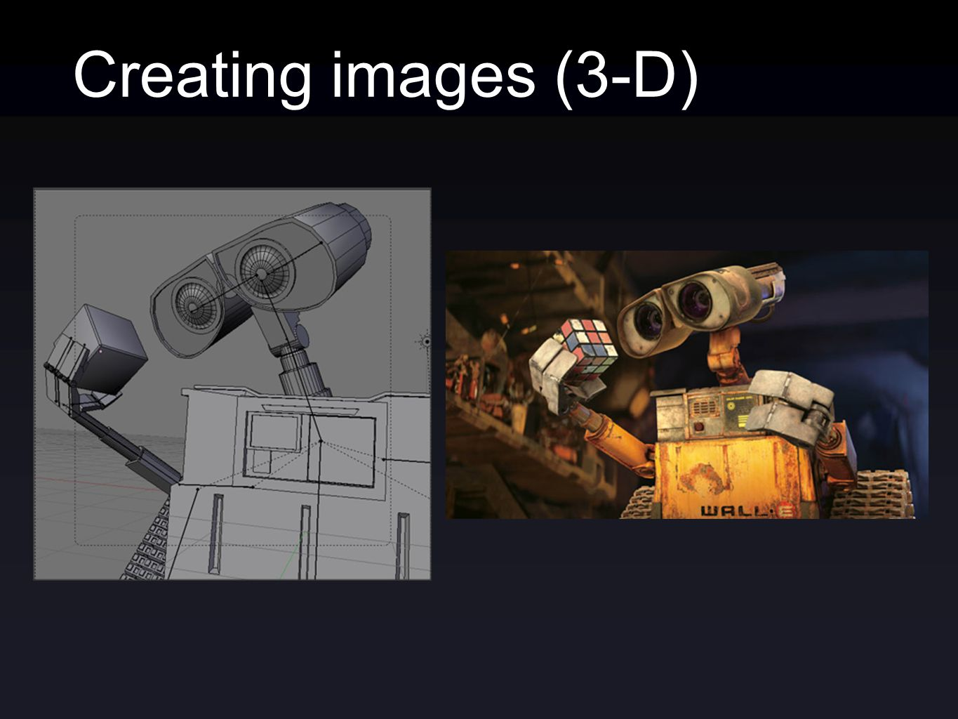Creating images (3-D)