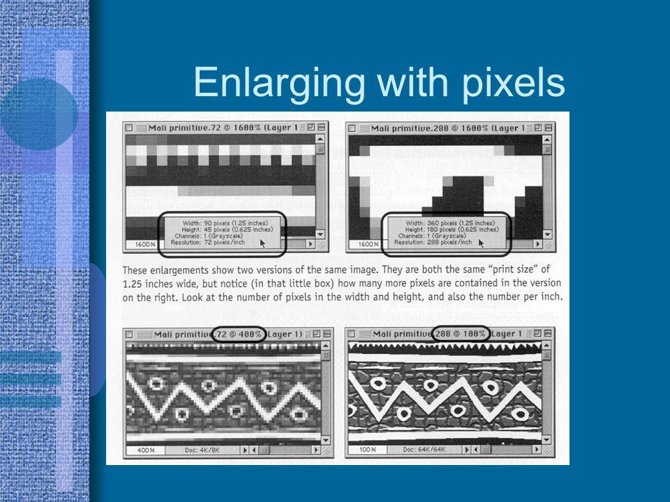 Enlarging with pixels