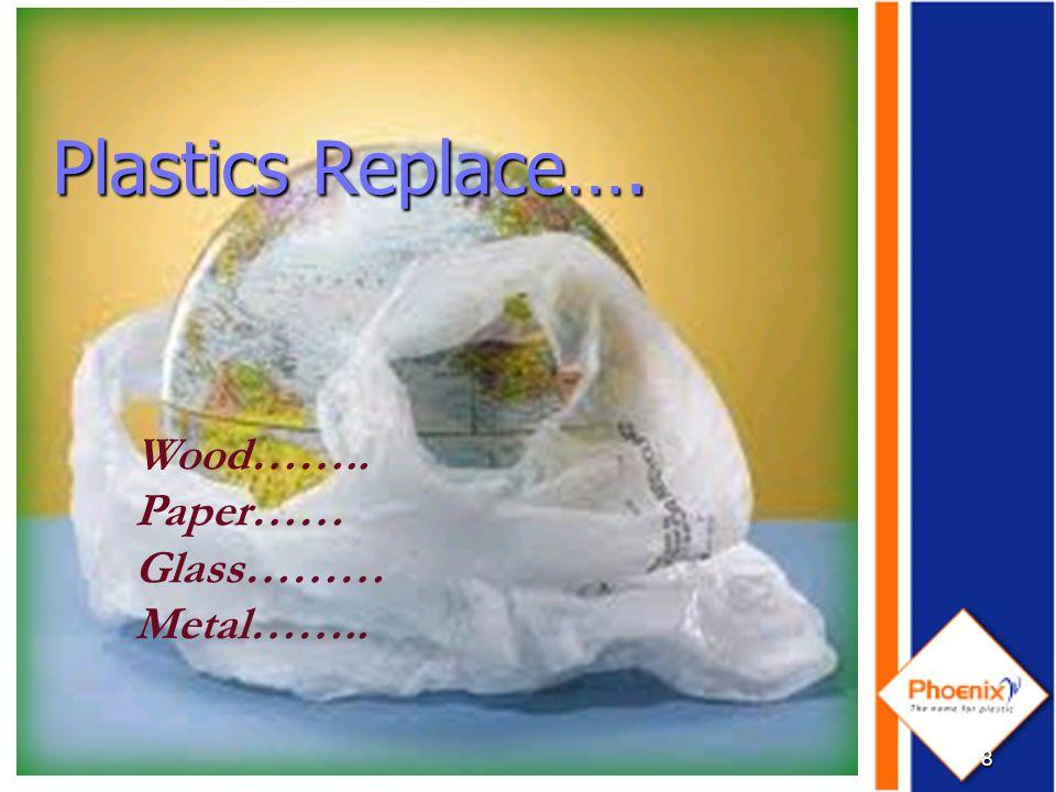 Plastics Replace Wood..