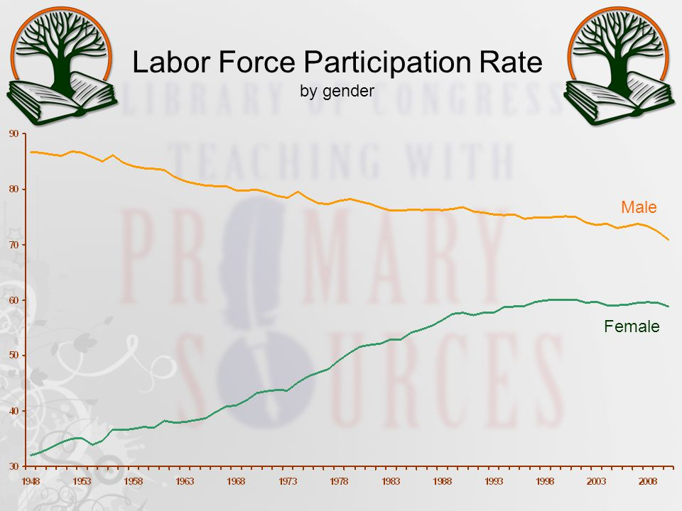 Labor Force Participation Rate by gender Male Female