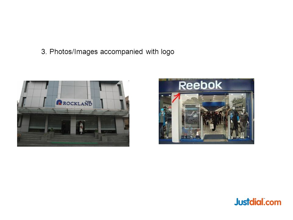 3. Photos/Images accompanied with logo