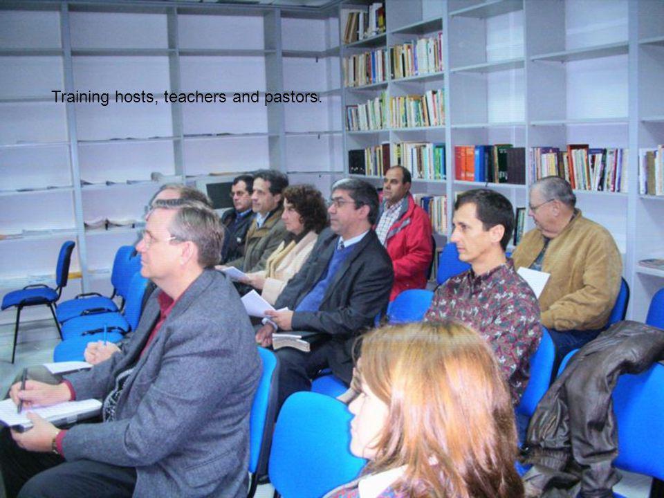 Training hosts, teachers and pastors.