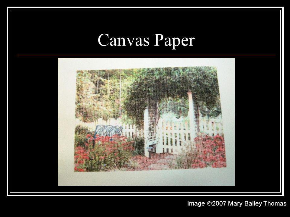 Canvas Paper Image 2007 Mary Bailey Thomas