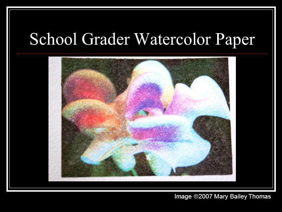 School Grader Watercolor Paper Image 2007 Mary Bailey Thomas