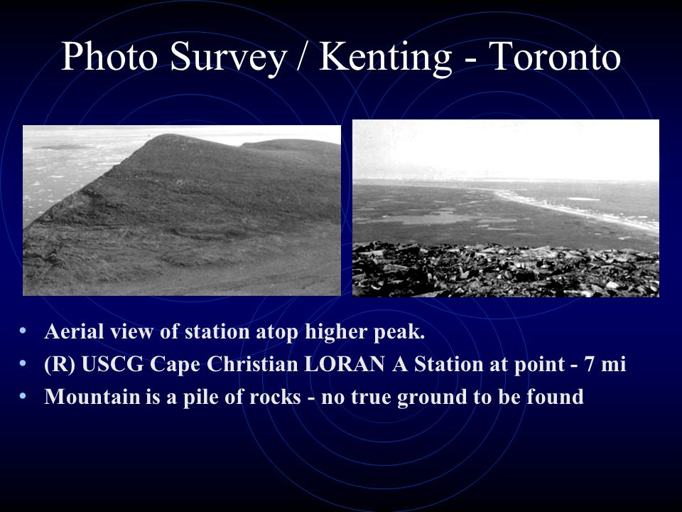 Photo Survey / Kenting - Toronto Aerial view of station atop higher peak.