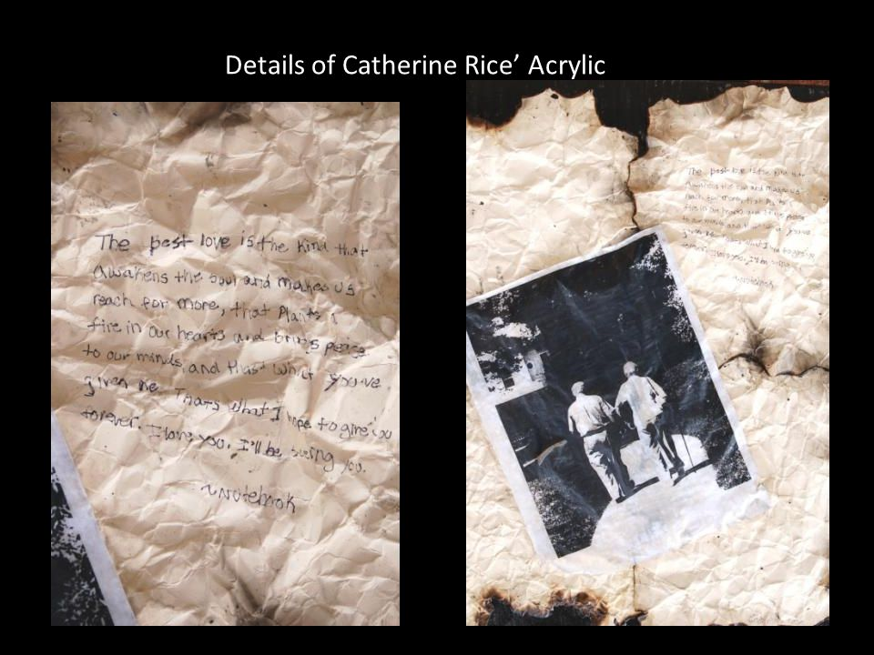 Details of Catherine Rice Acrylic Lift