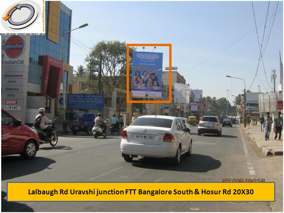 Lalbaugh Rd Uravshi junction FTT Bangalore South & Hosur Rd 20X30