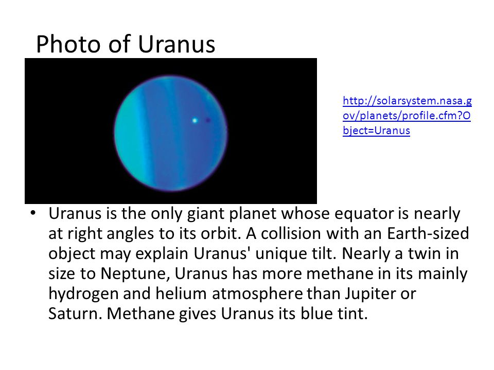 Photo of Neptune http://solarsystem.nasa.gov/planets/profile.cfm?Object=Neptune http://solarsystem.nasa.gov/planets/profile.cfm?Object=Neptune Dark, cold and whipped by supersonic winds, Neptune is the last of the hydrogen and helium gas giants in our solar system.