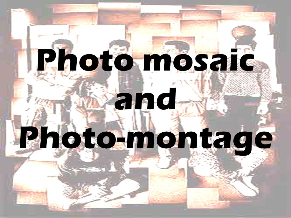 Photo mosaic and Photo-montage