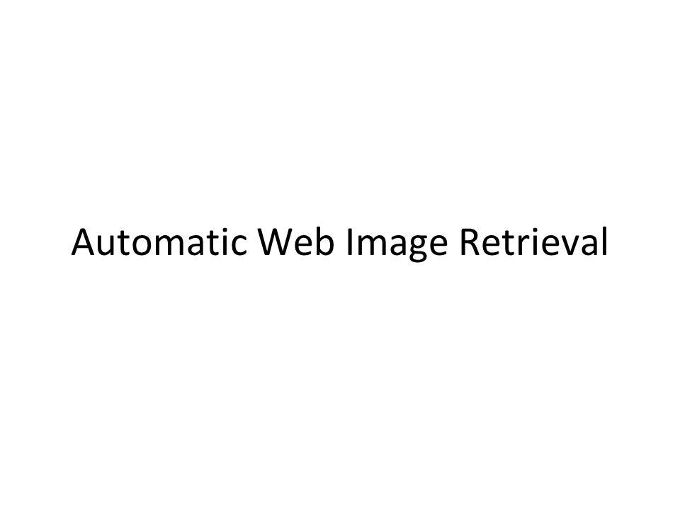 Automatic Web Image Retrieval
