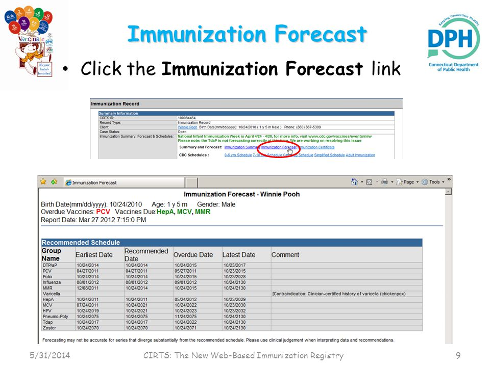 Clinical Comments Contraindications, Immunities, Precautions, Refusals, Religious Exemptions, Special Indications 5/31/2014 CIRTS: The New Web-Based Immunization Registry 10