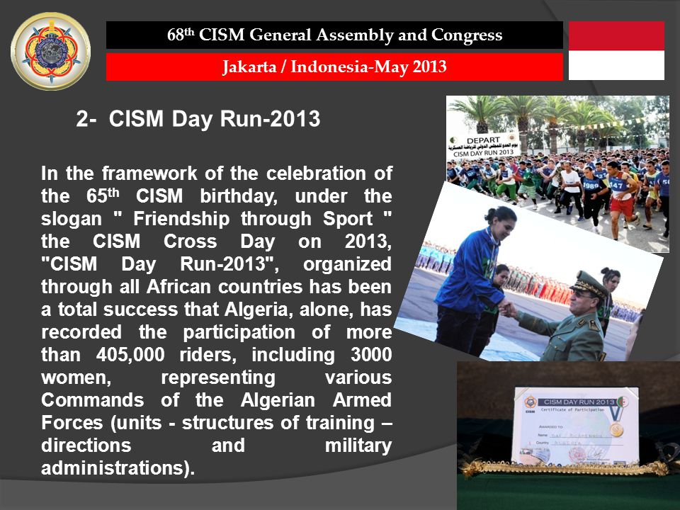 In the framework of the celebration of the 65 th CISM birthday, under the slogan