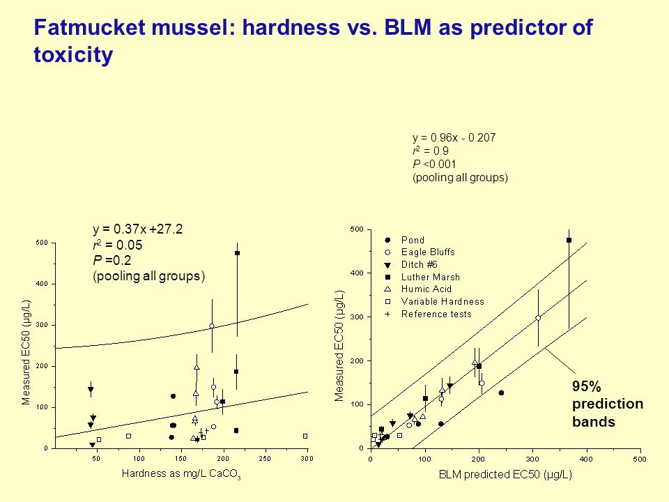Fatmucket mussel: hardness vs.