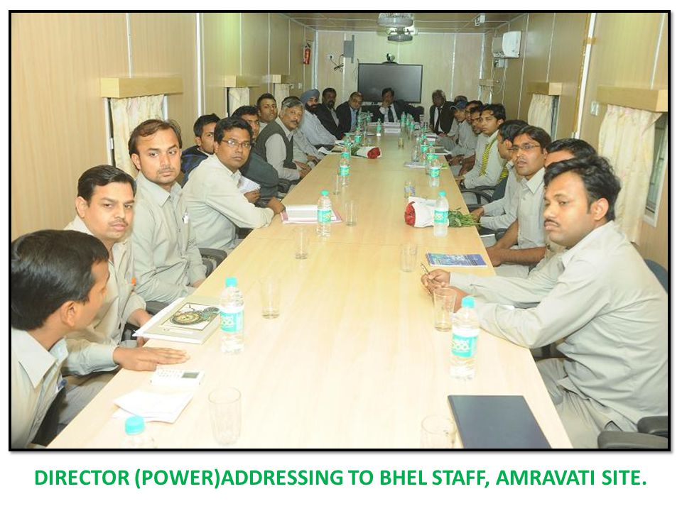 DIRECTOR (POWER)ADDRESSING TO BHEL STAFF, AMRAVATI SITE.
