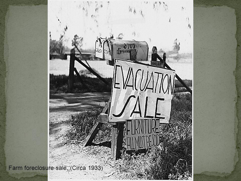 Farm foreclosure sale. (Circa 1933)