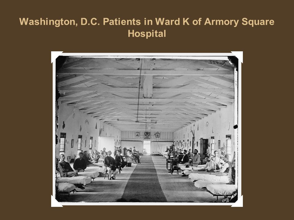 Washington, D.C. Patients in Ward K of Armory Square Hospital