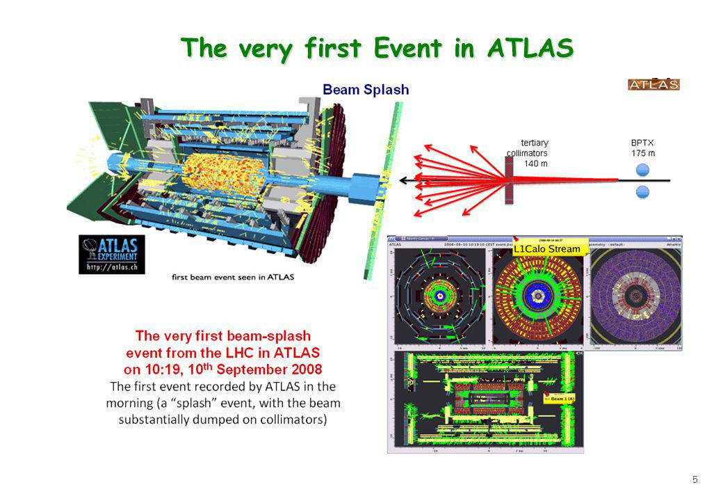 5 The very first Event in ATLAS