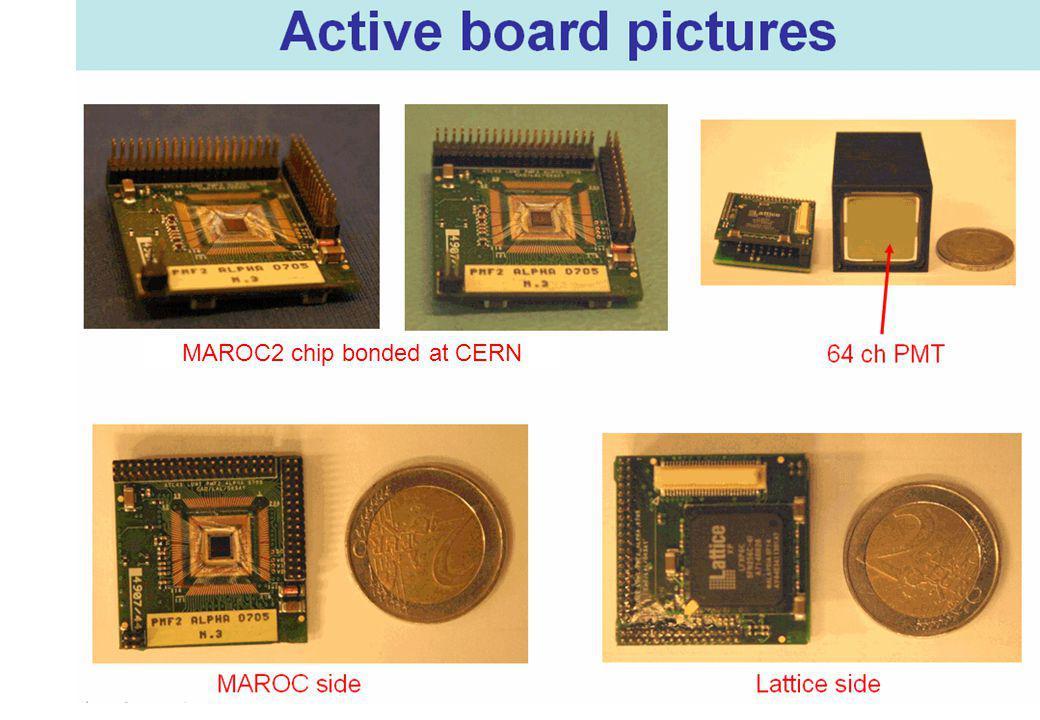 66 MAROC2 chip bonded at CERN