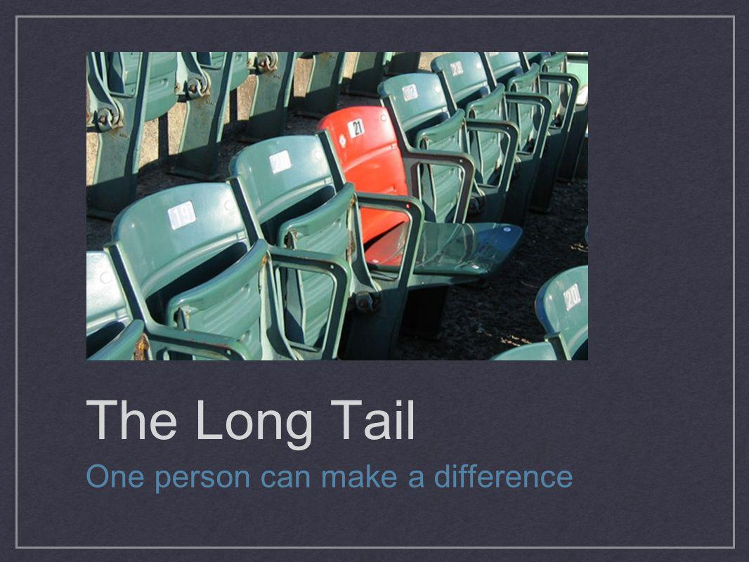 The Long Tail One person can make a difference