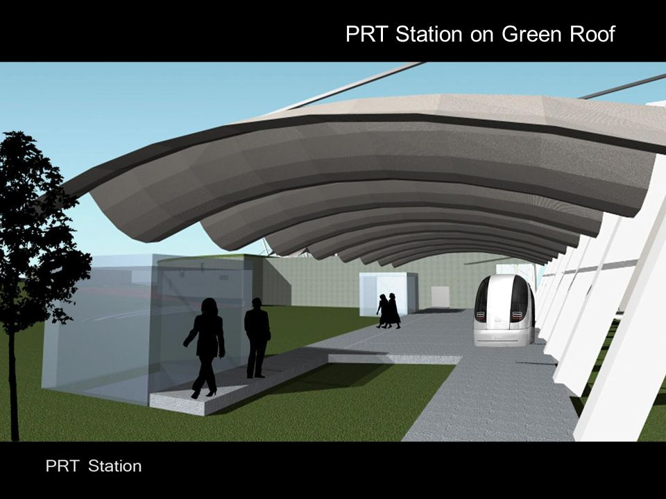 PRT Station on Green Roof