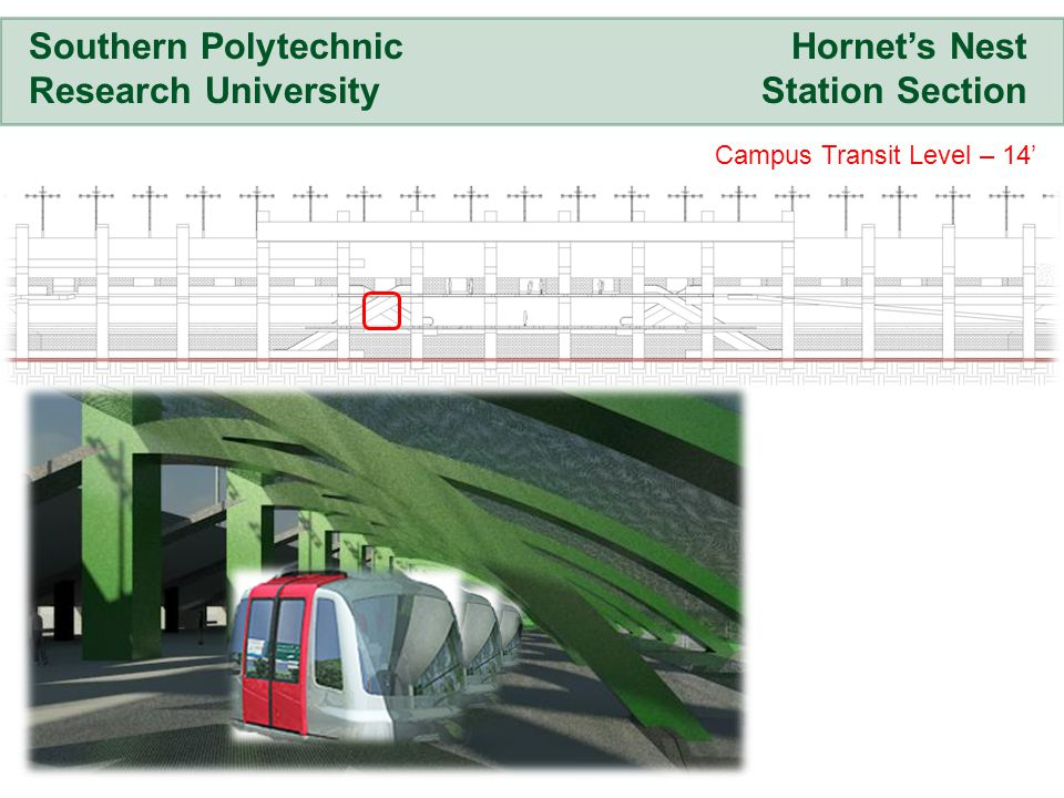 Hornets Nest Station Section Southern Polytechnic Research University Campus Transit Level – 14