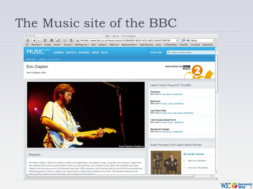 2 The Music site of the BBC