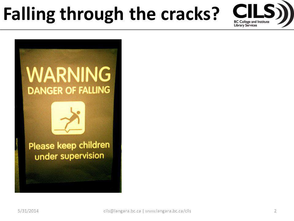 Falling through the cracks? 5/31/20142cils@langara.bc.ca | www.langara.bc.ca/cils