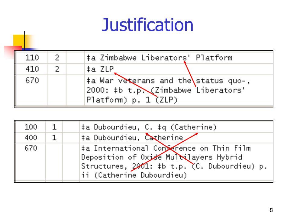 8 Justification