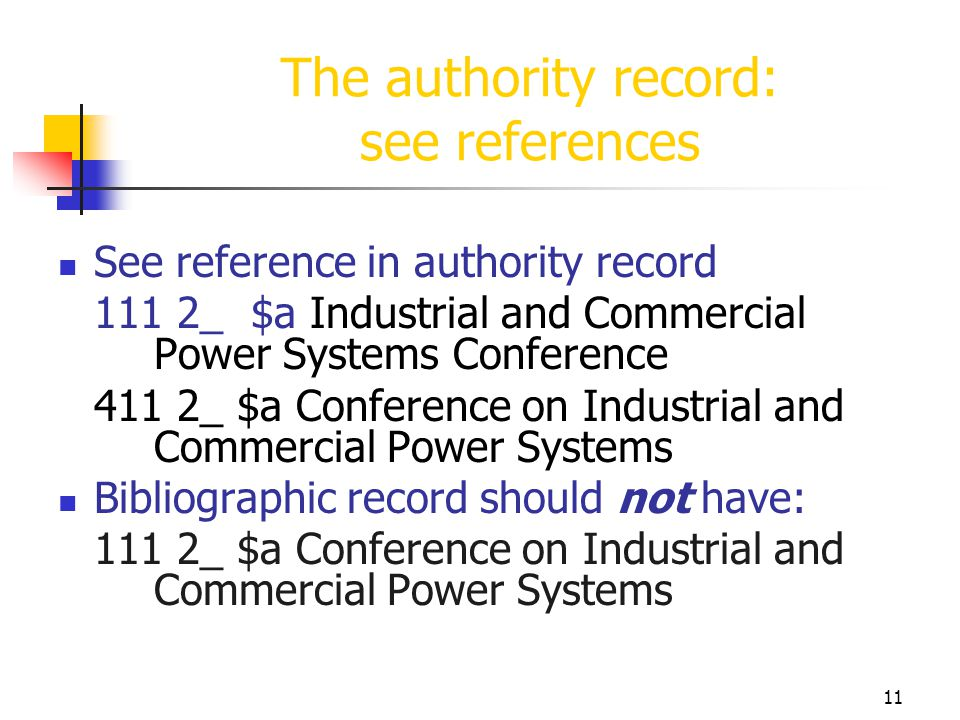 11 The authority record: see references See reference in authority record 111 2_ $a Industrial and Commercial Power Systems Conference 411 2_ $a Confe