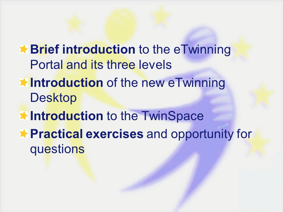 1.A set of collaboration tools for pupils and teachers What does the TwinSpace offer.