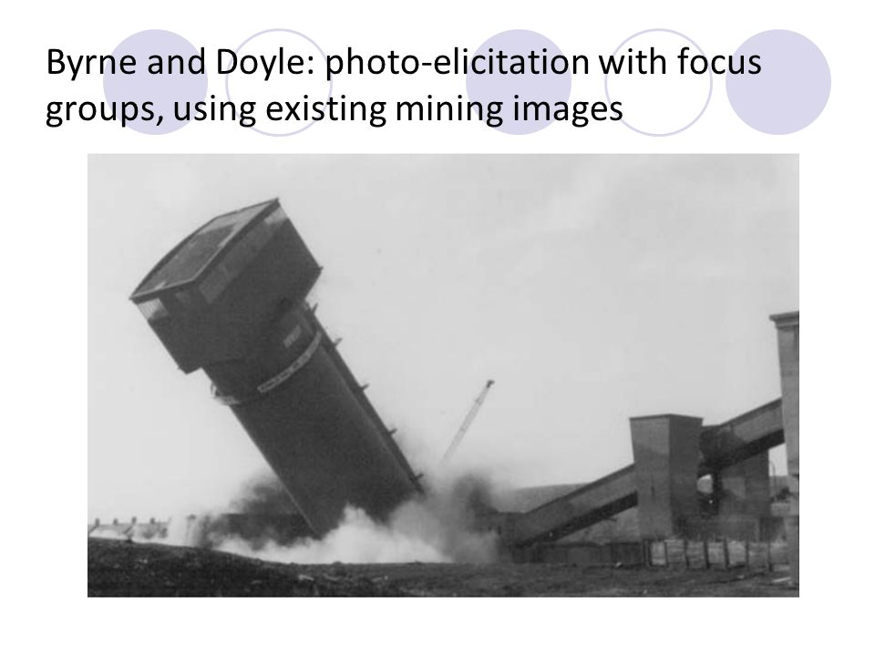 Byrne and Doyle: photo-elicitation with focus groups, using existing mining images