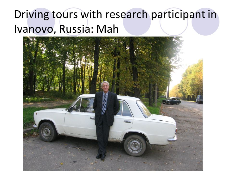 Driving tours with research participant in Ivanovo, Russia: Mah