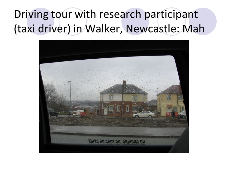 Driving tour with research participant (taxi driver) in Walker, Newcastle: Mah