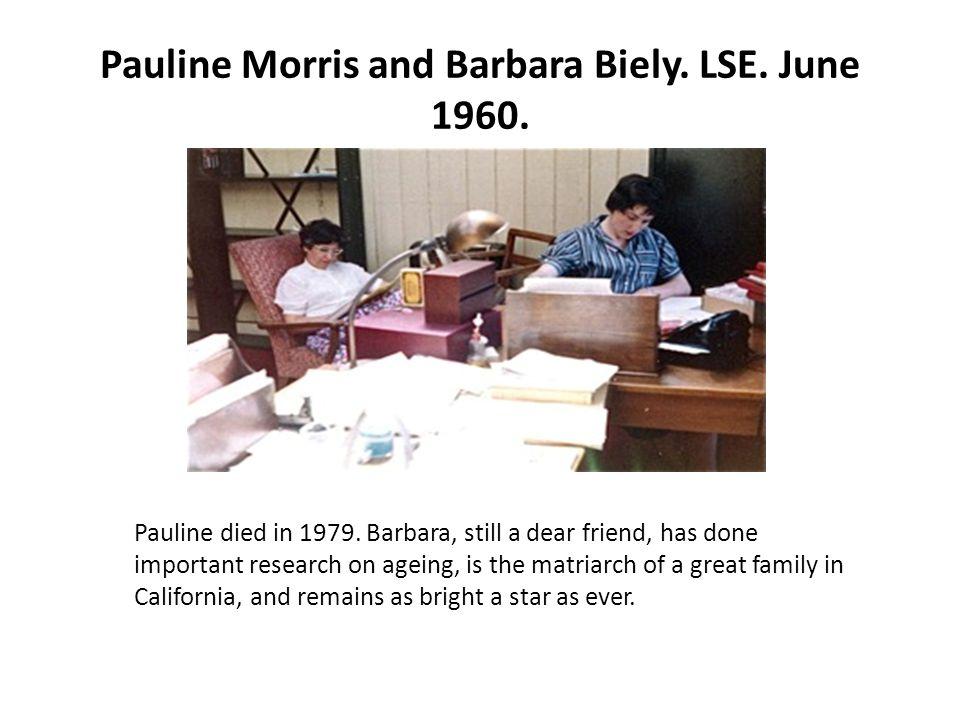 Pauline Morris and Barbara Biely. LSE. June 1960.