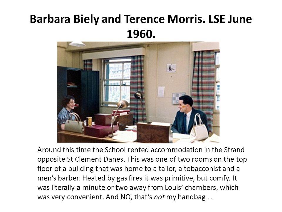 Barbara Biely and Terence Morris. LSE June 1960.