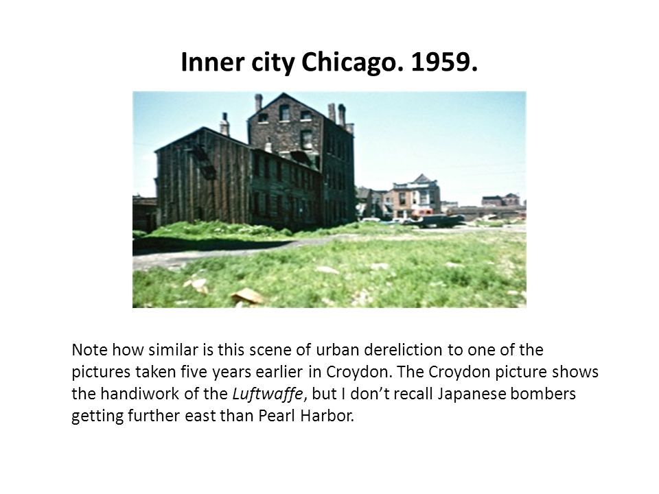 Inner city Chicago. 1959.