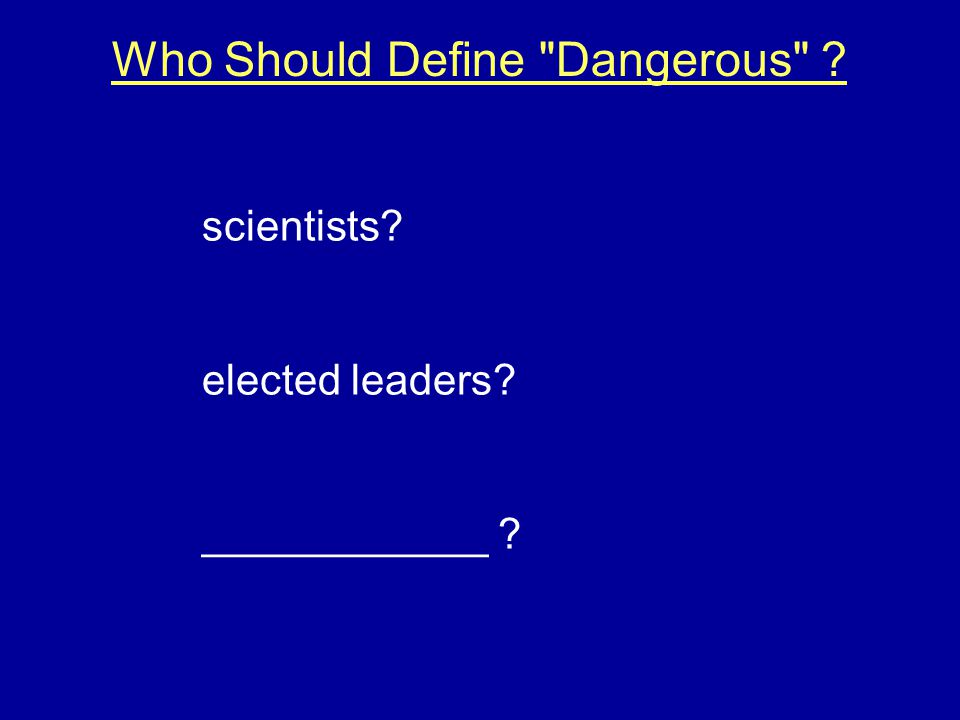 Who Should Define