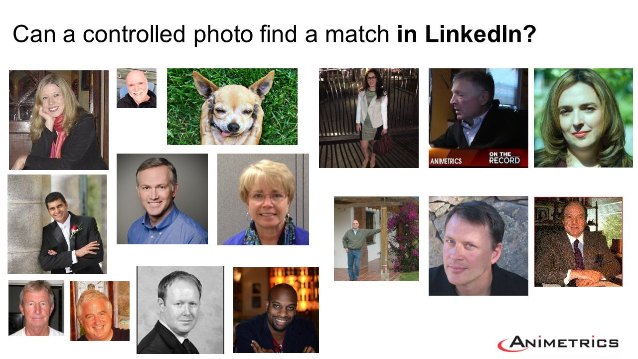 Can a controlled photo find a match in LinkedIn?