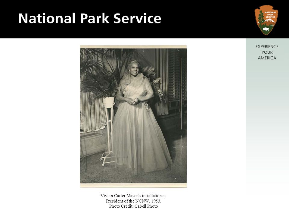 Vivian Carter Mason's installation as President of the NCNW, 1953. Photo Credit: Cabell Photo