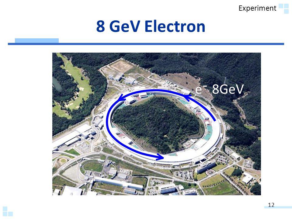 12 e 8GeV - 8 GeV Electron Experiment
