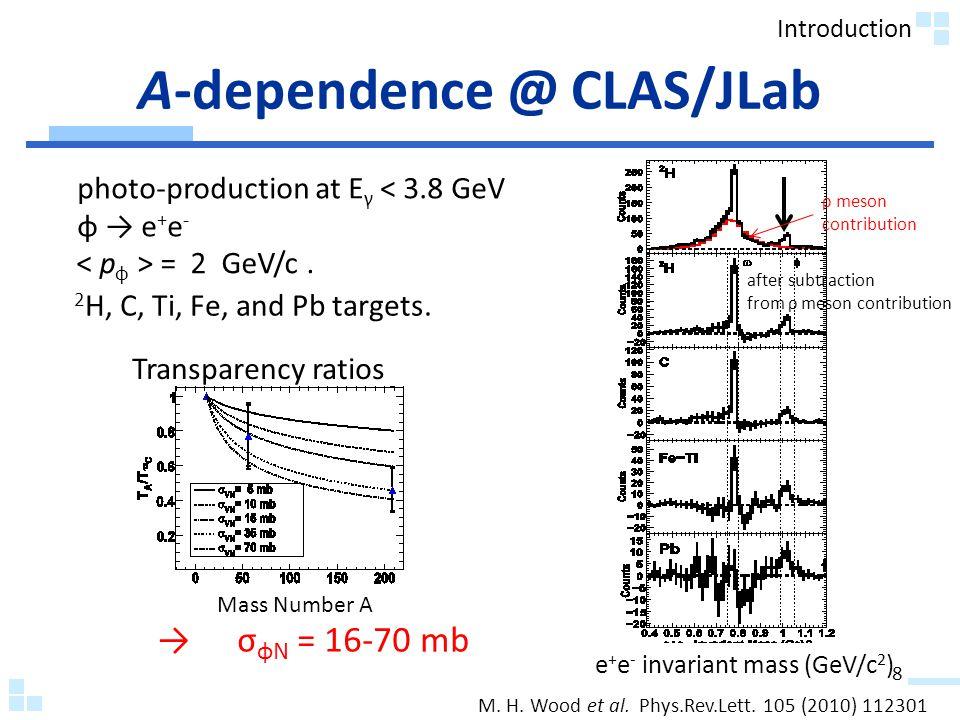 A-dependence @ CLAS/JLab M. H. Wood et al. Phys.Rev.Lett.