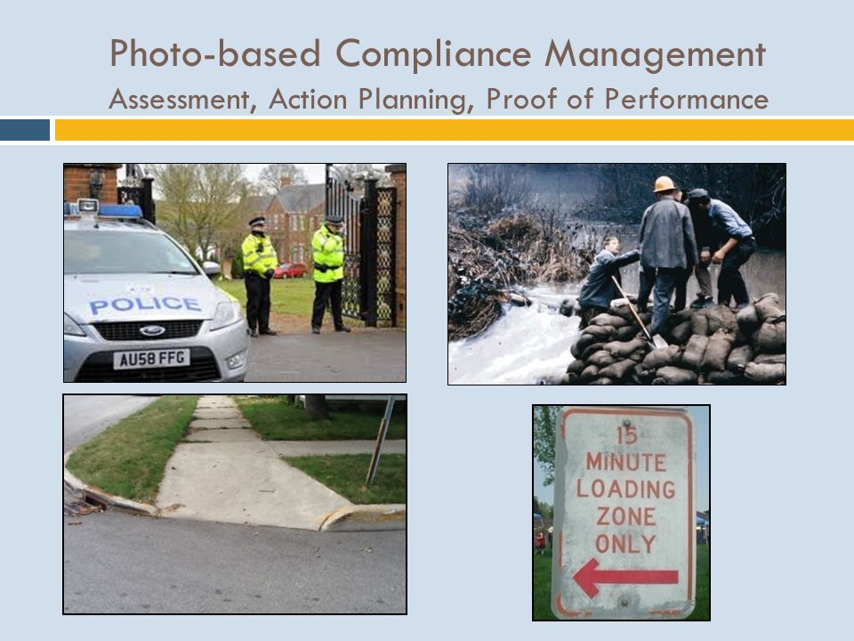 Photo-based Compliance Management Assessment, Action Planning, Proof of Performance