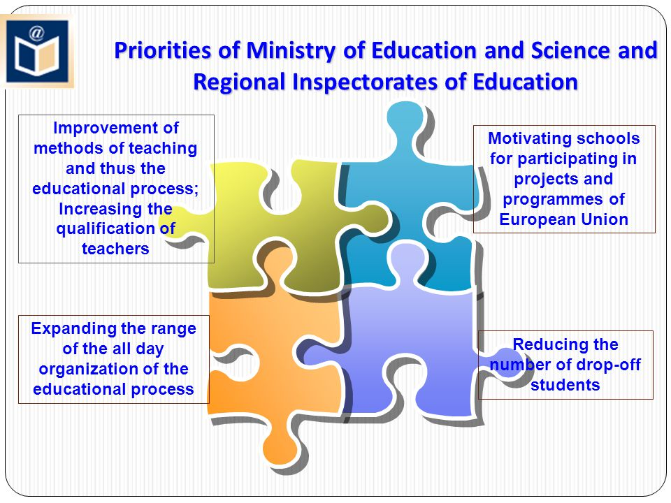 Priorities of Ministry of Education and Science and Regional Inspectorates of Education Motivating schools for participating in projects and programme