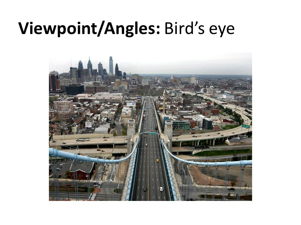Viewpoint/Angles: Birds eye